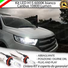 KIT LED H15 CANBUS LUCI DIURNE  + ABBAGLIANTI 6000K FORD KUGA 10800 LUMEN