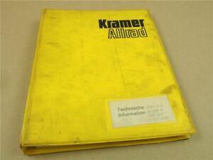 Kramer Allrad 212 312/1 312/2 312S 412 611 811 Lader Technische Unterlagen Schul