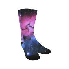 Outer Space Nebula and Galaxy in the Univers Hosiery Knee-High Socks Leg Warmers