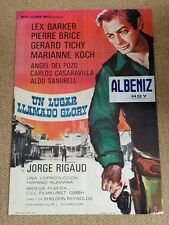 A PLACE CALLED GLORY Original SPAGHETTI WESTERN Movie Poster LEX BARKER