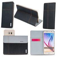 Handy Tasche für HomTom Flip Book Case Cover Schutz Hülle Etui Wallet Flipcase