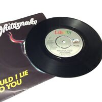 """Whitesnake 'Would I Lie To You' 1982 Vinyl 7"""" Single Very VG+ Clean Copy"""