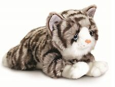 Keel Toys Signature 25cm Grey Tabby Cat / Kitten Cuddly Plush Soft Toy SC1475a