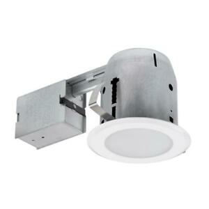4 Globe Electric 5in LED Shower Lens Recessed Lighting Kit Dimmable Downlight