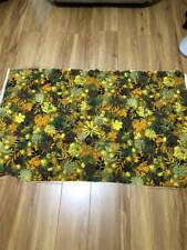 Vintage 1970's ? Screen Printed Orange Yellow Green Gold Home Decor Fabric 53x30