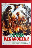 GODZILLA TERROR JAPAN TOHO HONDA 1975 SCI-FI HORROR RARE EXYUGO MOVIE POSTER