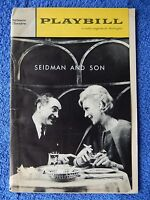 Seidman And Son - Belasco Theatre Playbill - November 5th, 1962 - Sam Levene