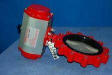 """Bray 10"""" Butterfly Valve w/Double Acting Pneumatic Actuator - New Surplus"""