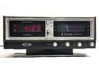 ZENITH CIRCLE OF SOUND H472W Clock Radio Red LED Display 1970s KOREA Vintage