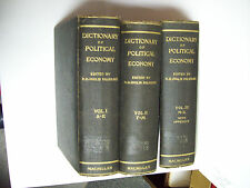 3 VOL PALGRAVE'S DICTIONARY OF POLITICAL ECONOMY 1926 HENRY HIGGS ED -CLEARANCE