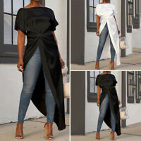 Women High Low Long Maxi Top Ladies Asymmetric Casual Shirt Blouse Oversized
