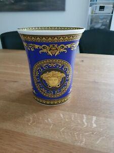 Rosenthal Versace Medusa Blue Vase