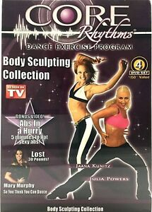 CORE RHYTHMS DANCE EXERCISE PROGRAM BODY SCULPTING COLLECTION ABS WORKOUT SET