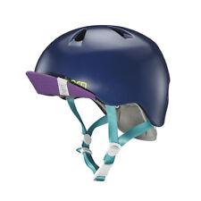 Bern Nina Satin Navy Blue Extra Small / Small Girls Bike Helmet  Zipmold