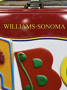 Williams-Sonoma Alphabet Cookie Cutters in Metal Lunchbox - Complete A-Z 1995 p