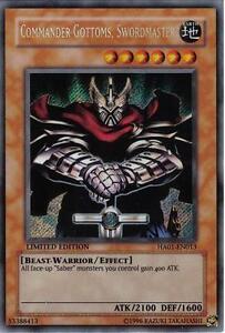 Yu-Gi-Oh Yugioh Commander Gottoms, Swordmaster HA01-EN013 Secret Near-Mint!