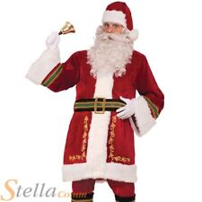 Adult Classic Santa Claus Costume Plush Regal Father Christmas Mens Outfit