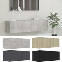 Wall Mounted Floating TV Cabinet Chipboard Entertainment Center Media Storage US