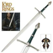 """Lord of the Rings Aragon 47"""" Strider Sword with Plaque United Cutlery COA"""