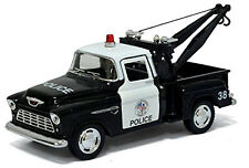 "1955 CHEVROLET Stepside Pickup Police Tow Truck 1:32 Diecast Model Car 5"" Chevy"