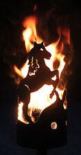 Pferd Fackel - Set mit Stiel und Wachsrollen Gartenfackel Feuerschale