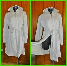 NwT 100% Cotton Zip up Long Hoodie Dress Jacket Sweatshirt sz L