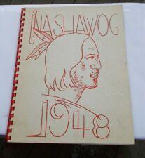 RARE Vintage 1948 Junior High School Year Book Nashawog Sterling Indian Photos