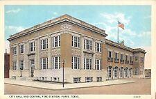 c.1920 City Hall & Fire Station Paris TX post card