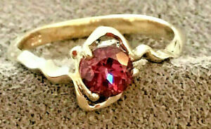 Natural Brilliant Rhodolite Garnet Ring, ...  Solid 9k Yellow Gold