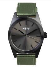 NEW NEFF NIGHTLY WATCH DARK/MILITARY GREEN BAND BUCKLE ADJUSTABLE STRAP NF0223