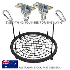 NEST SWING 100cm Large Spider Web Kids Ring Seat with Hanger and hooks