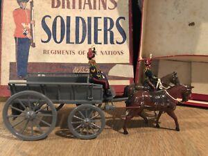 Britains: Boxed Converted Set 146 - Royal Horse Artillery Service Wagon. Unique