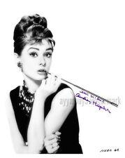 "AUDREY HEPBURN (Breakfast At Tiffanys) 8""x10"" Autographed Photo - RP"