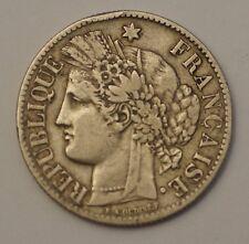 Troisième République 2 Francs argent Cérès 1873 Paris Silver coin