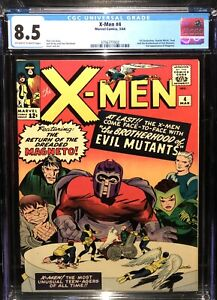 X-MEN 4 CGC 8.5 ow-WHITE PAGES 🔥 1st App QuickSilver & Scarlet Witch 3756777002