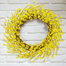 Artificial Flower Wreath Yellow Flower for Door Front Home Wedding Decor Wreath