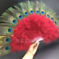Folding Feather Plastic Hand Fans Wedding Party Dance Props Home Decor Chic Cute