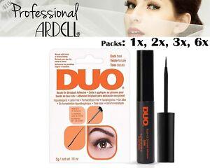 DUO Eye Lash Glue Brush On Striplash Adhesive Dark Tone Blends with Black Brown