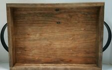 Rustic Wood Couch Tray Farmhouse Serving Tray