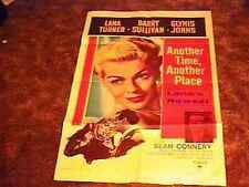 ANOTHER TIME  MOVIE POSTER '58 SEAN CONNERY LANA TURNER