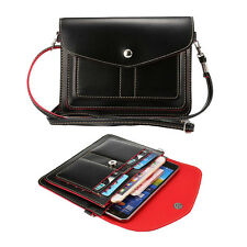 Leather Crossbody Bag Case Pouch For LG G6 G5 / LG V20 / LG Stylo 3 / HTC U11