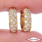 Estate 0.57ct Diamond 18K Gold Huggie Earrings NR