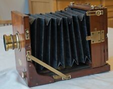 "GEORGE HARE 1880s MAHOGANY ""IMPROVED POCKET"" TAILBOARD CAMERA WITH LENS"