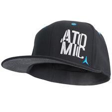 NEW ! ATOMIC STACKED CAP, BLACK, SIZE ADULT : L/XL, FLEX FIT, SUPER DEAL !!!