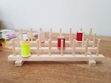 Fly tying bobbin holder, desk tidy, wooden 24 thread holder.