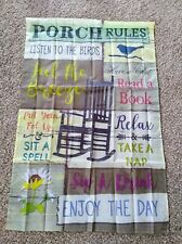 Large porch flags 27 X 41 house flag, Relax on the porch flag country flag