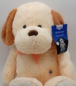 Hund ca. 80 cm Plüschtier Kuscheltier Stofftier Teddy kuscheln LED