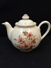 New listing Tea Pot With Pretty Brown Tones Flowers! Porcelain Very Nice Condition!