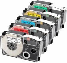 5PK for Casio XR-12WE XR-12RD XR-12BU XR-12YW XR-12GN 12mm Casio KL60  KL120
