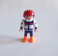 PLAYMOBIL (N3207) SPORT d'HIVER - Garçon Tenue Bleu Blanc Hockey sur Glace 3955
